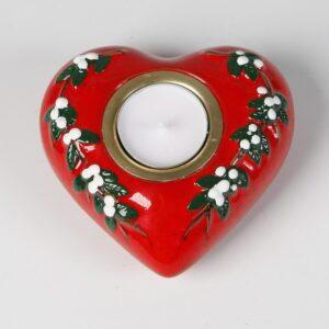 Keramikhjärta för värmeljus